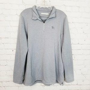 Peter Millar|Gray Stretch 1/4 Zip Pullover